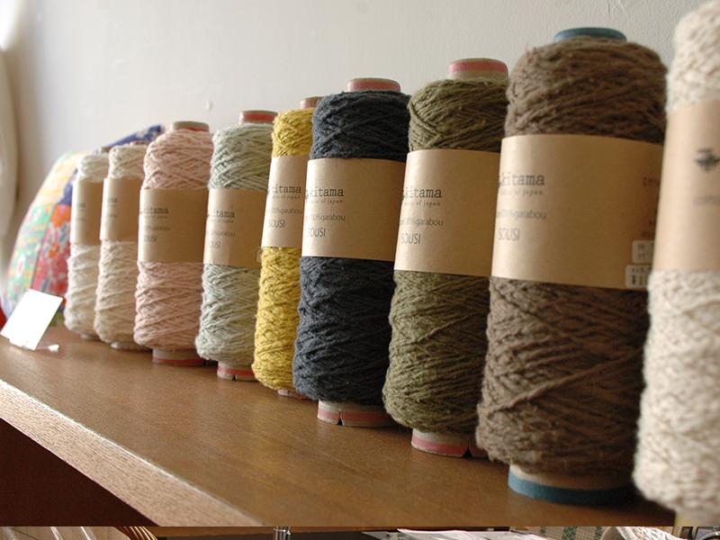 ガラ紡 双糸 編み物の季節